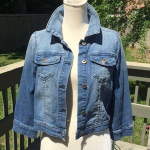 Cropped Denim Jacket NWOT